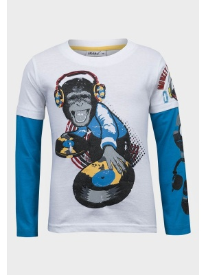 Long Sleeve DJ Monkey t-shirt