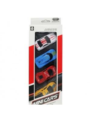 4 Mini Pull back cars