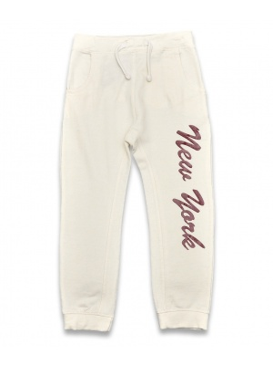 White new york joggers