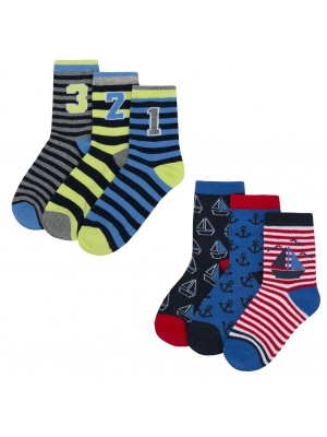 6 Pack Anchor 123 Socks