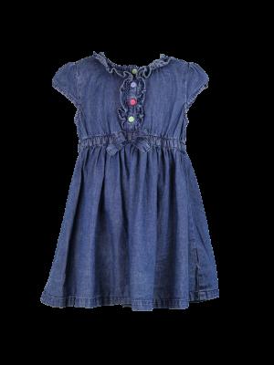 Denim Bow Dress