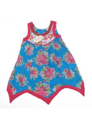 Pink & Blue Floral Dress