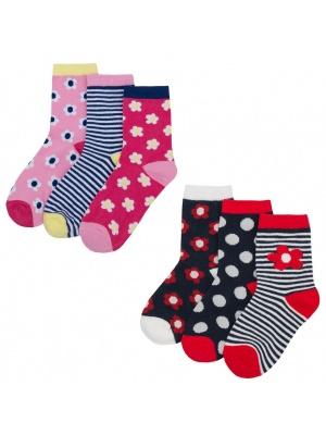 6 Pack Floral Socks