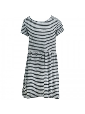 Grey & Black Stripe Dress