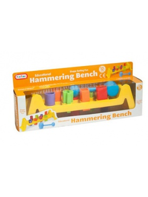 Hammering bench toy -front