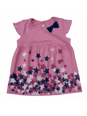 Pink Bow And Star Tunic Dress