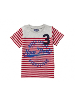 Boys T-shirt Red & White Stripes