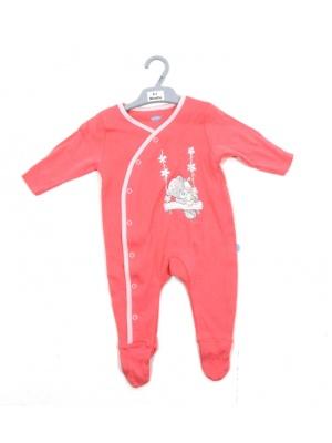 Pink Teddy Babygrow