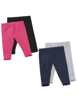 Baby Girls 2 Pack Leggings