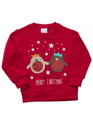 Merry Christmas Jumper Red