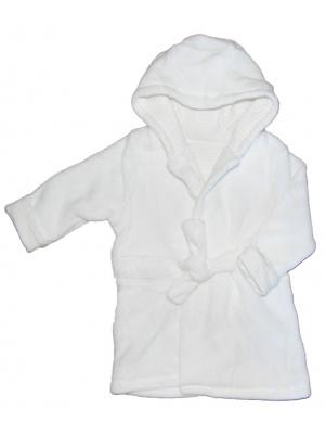 White Hooded Bathrobe