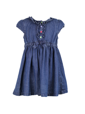 Denim Bow Dress