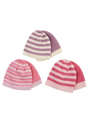 Girls 2 Pack Beanie Hat