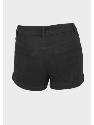 black denim summer shorts