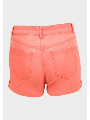 Salmon Denim Shorts