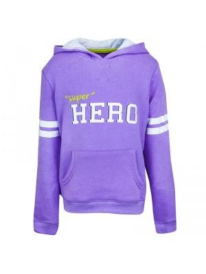 Girls Lilac Hoodie Hero