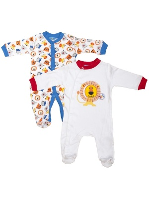 2 Pack Baby Grows Lion