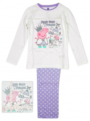 Girls Pyjamas Peppa Pig Snow Princess