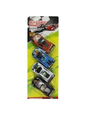 4 Racer pullback cars