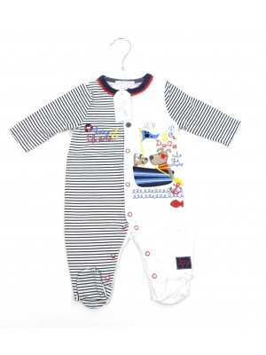 Striped Sailor Sleepsuit