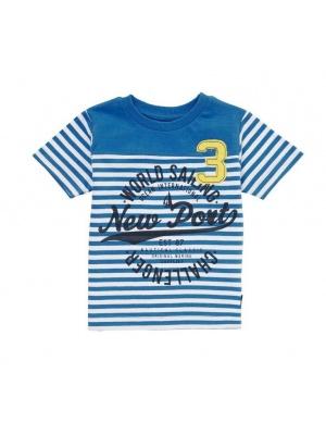 Boys T-shirt Blue & White Stripes