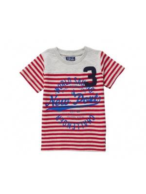 Boys T-shirt Red & White Stripes